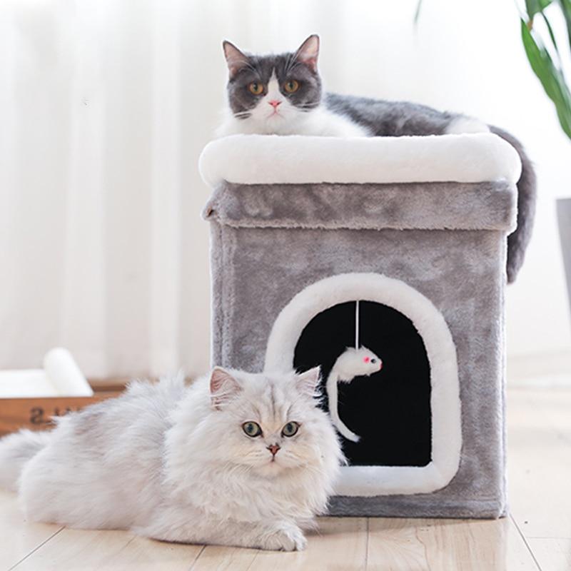 Jormel chat maison lit pour animaux de compagnie planche à gratter drôle chat bâton sommeil profond tente fournitures pour animaux de compagnie chat escalade cadre
