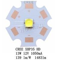 NEW 5PCS 10PCS CREE 12V XHP35 HD Cool White Neutral White Warm White LED on 20mm Copper PCB/16mm 14mm 12mm 8mm PCB.