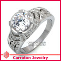 Carraton RSQD1067 Marvelous Shining Solitaire CZ Diamond Genuine 925 Silver Ring