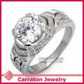 Carraton RSQD1067 Marvelous Shining Solitaire CZ Diamond Genuine 925 Silver Ring