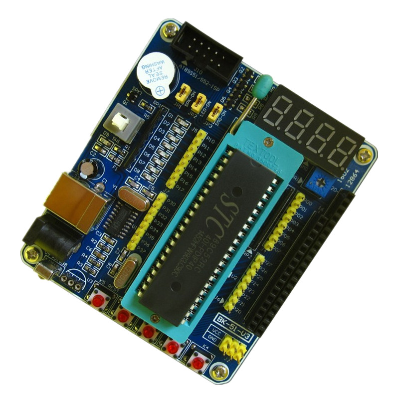51 microcontroller learning board STC89C52 learning board development board system board self-made intelligent car dspic33fj128mc706 microcontroller can motor pic learning board development board experimental board