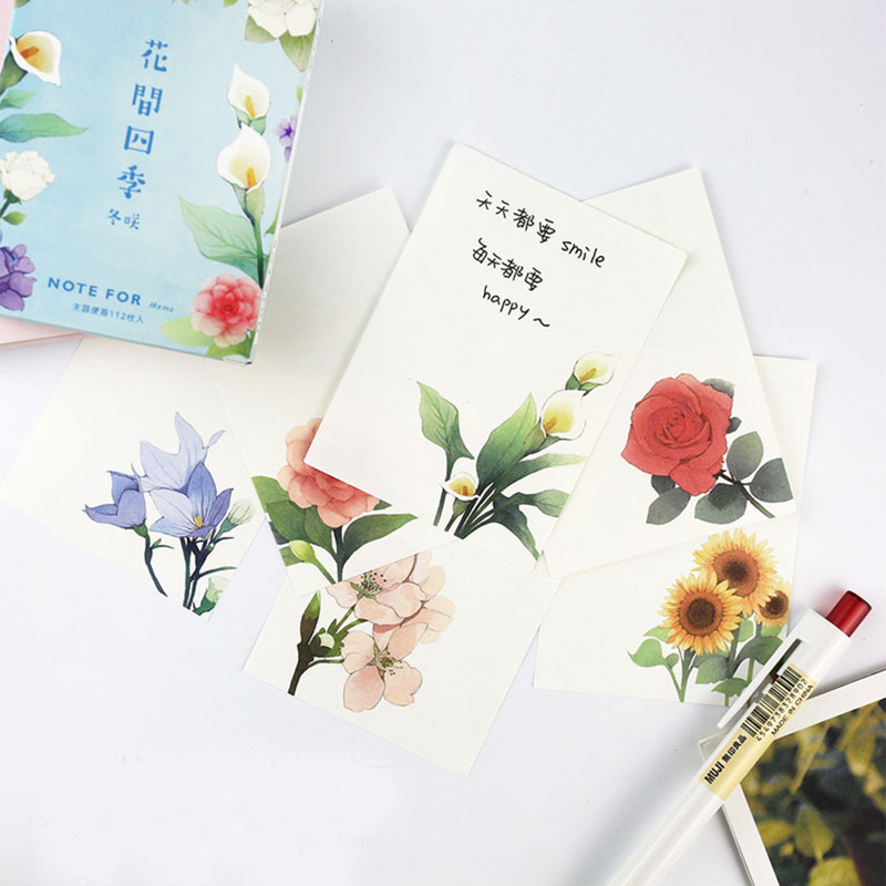 112 page /box CardLover Four seasons flower memo pad paper sticky notes post it notepad stationery papeleria school supplies stylish memo pad scheduler about 160 page
