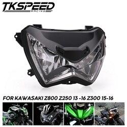 Motocicleta farol cabeça luz conjunto da lâmpada para kawasaki z800 z250 2013-2016 z300 2015 2016