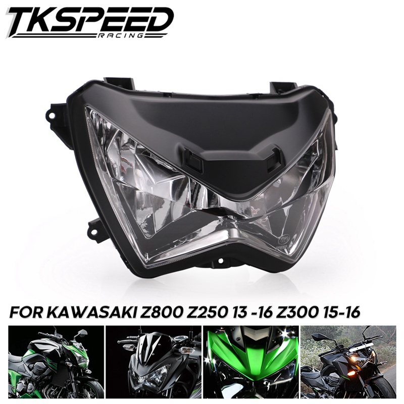 Motorcycle Headlight Headlamp Head Light Lamp Assembly For Kawasaki Z800 Z250 2013 -2016 Z300 2015 2016
