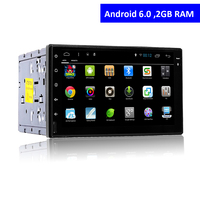 2 Din Android 6.0 Touch Screen Car DVD Player con GPS navigazione Bluetooth Radio TV AUX USB SD Stereo In Dash Auto Multimedia