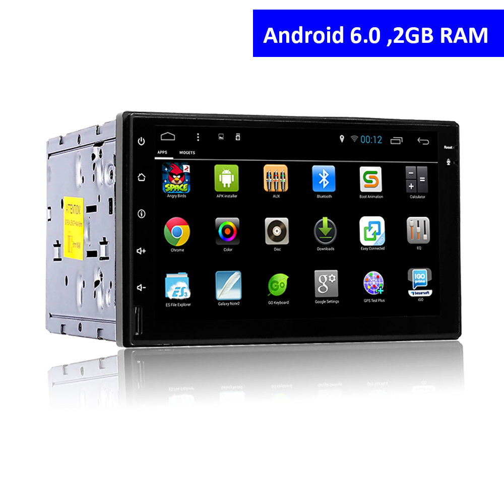 2 Din Android 6 0 Touch Screen Car DVD Player with font b GPS b font