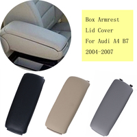 High Quality 3 Colors Leather Arm Rest Console Box Armrest Lid Cover For Audi A4 B7