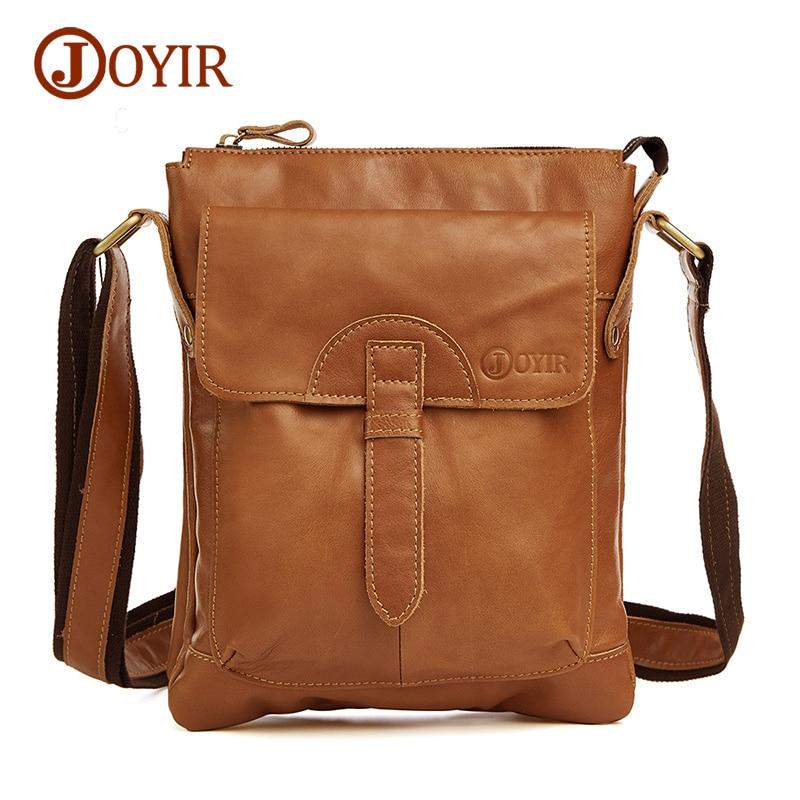 Joyir Genuine Leather Men Bag Shoulder Casual Retro Bags Men Genuine Leather Crossbody Bags For Men Messenger Bags Handbags 8692 genuine leather shoulder bag men casual