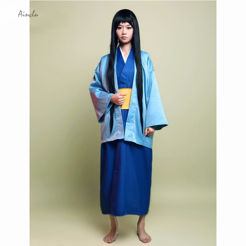 Ainclu Free Shipping New Gintama Katsura Kotarou Cosplay Costume For Halloween Kids And Adult Costume