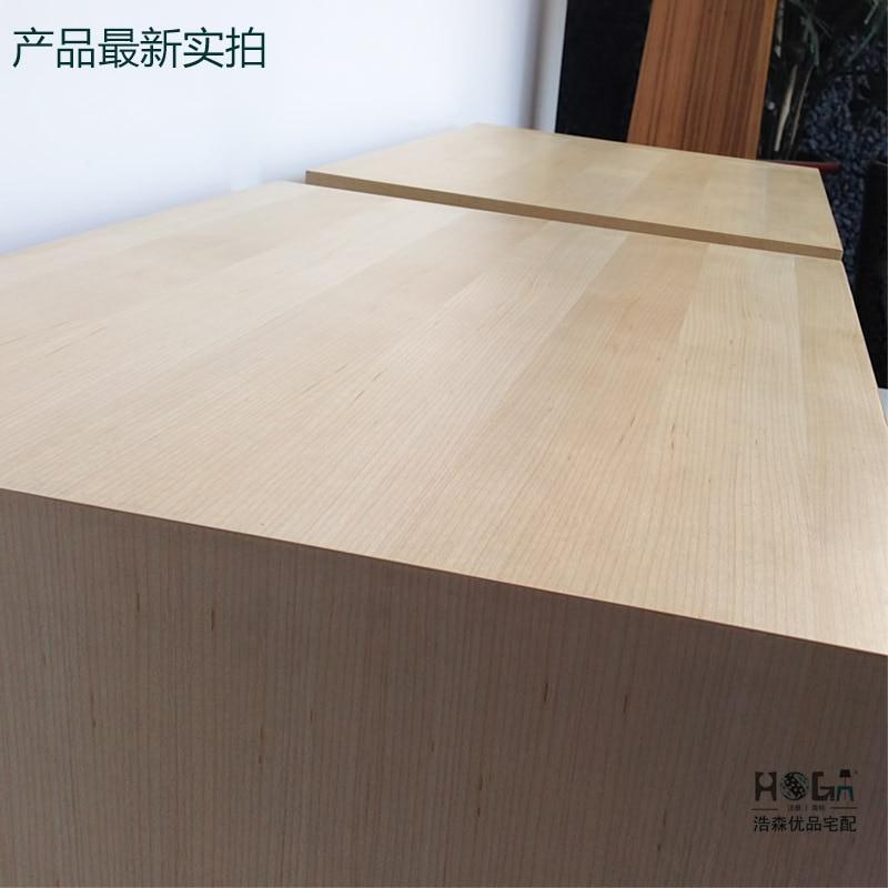 Grueso arce flameado veneer mesa de noche moderna minimalista ...