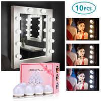 10 HA CONDOTTO Le Lampadine Della Lampada Kit Vanity Specchio Per Il Trucco 3 Colori Luminosità Regolabile Illuminato Hollywood Style Make up Specchi Cosmetici