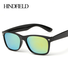 HINDFIELD Fashion Sunglasses Men Polarized Driving Mirrors Coating Points Black Frame Eyewear Male Sun Glasses UV400
