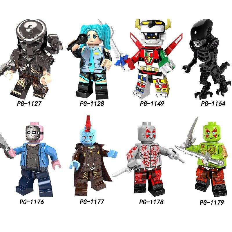 Single Sale  Figures Horror Movie Jason Voorhees Friday The 13th Walking Dead Technik Building Blocks Toys For Children