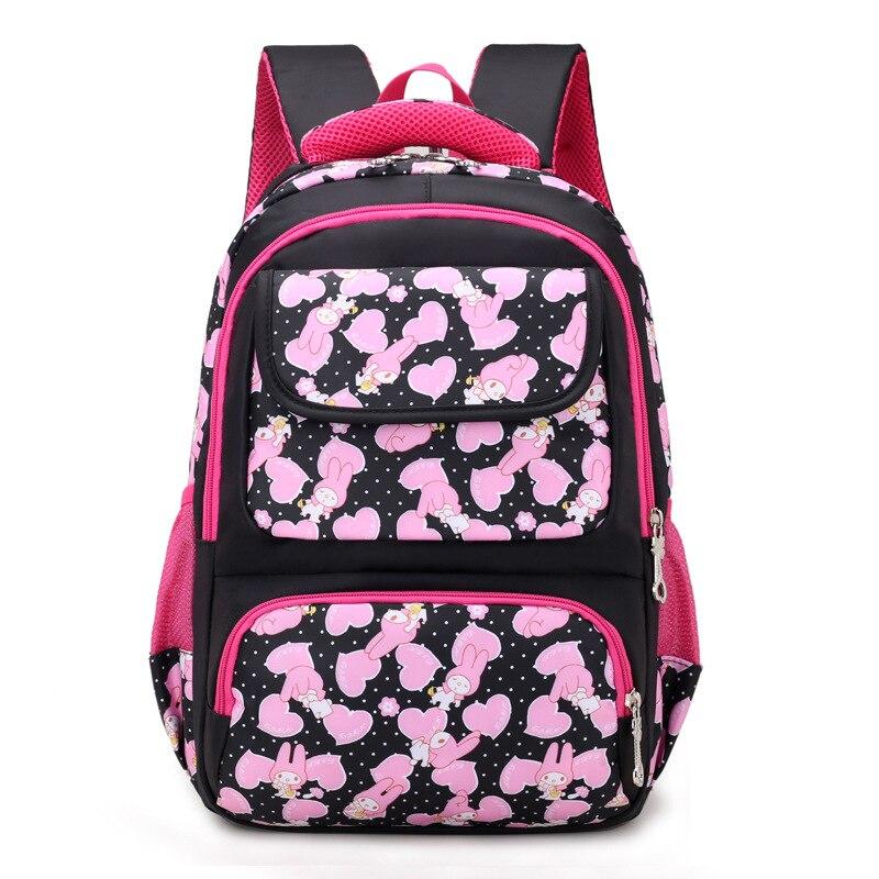 Girls Floral Princess Schoolbags Primary Escolar Waterproof Orthopedic Satchel Mochila Bolsa High Quality Travel Backpacks 2018