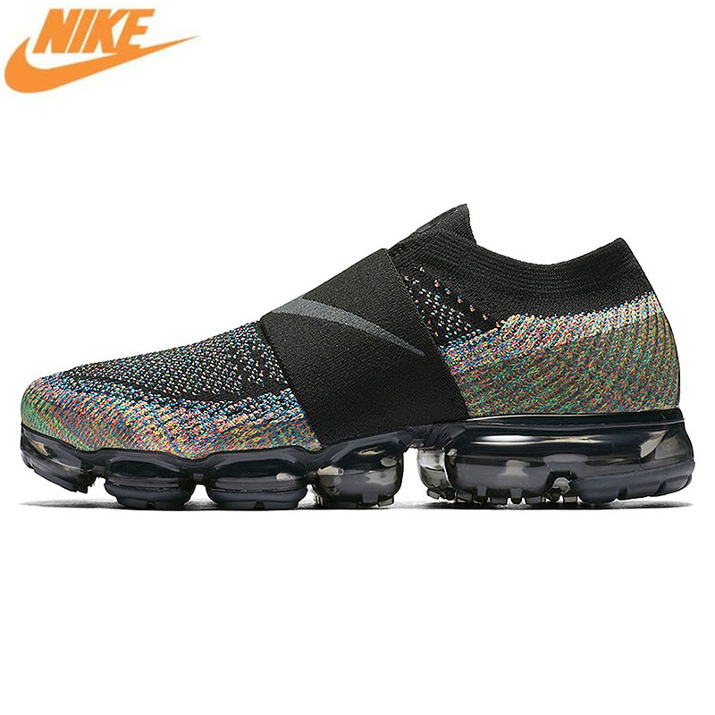Nike Air VaporMax Moc Rainbow Cushion Men's Running Shoes Sports Sneakers Shoes,Original Outdoor Anti-skid Shoes AH3397 003 free shipping nike air vapormax flyknit breathable women men s running shoes sports sneakers outdoor athletic shoes eur 36 47