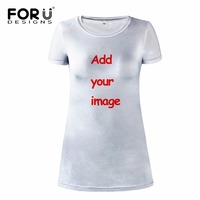 FORUDESIGNS 3D Designs Customized Your Life Women Ladies Fashion Above Knee Dress Personality Daily Dress Female