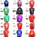 70*90 Niños capas de Superhéroes y Máscara Traje Capas De Los Niños Superman Spiderman Superhéroe Capa para niños de Cumpleaños de Halloween partido