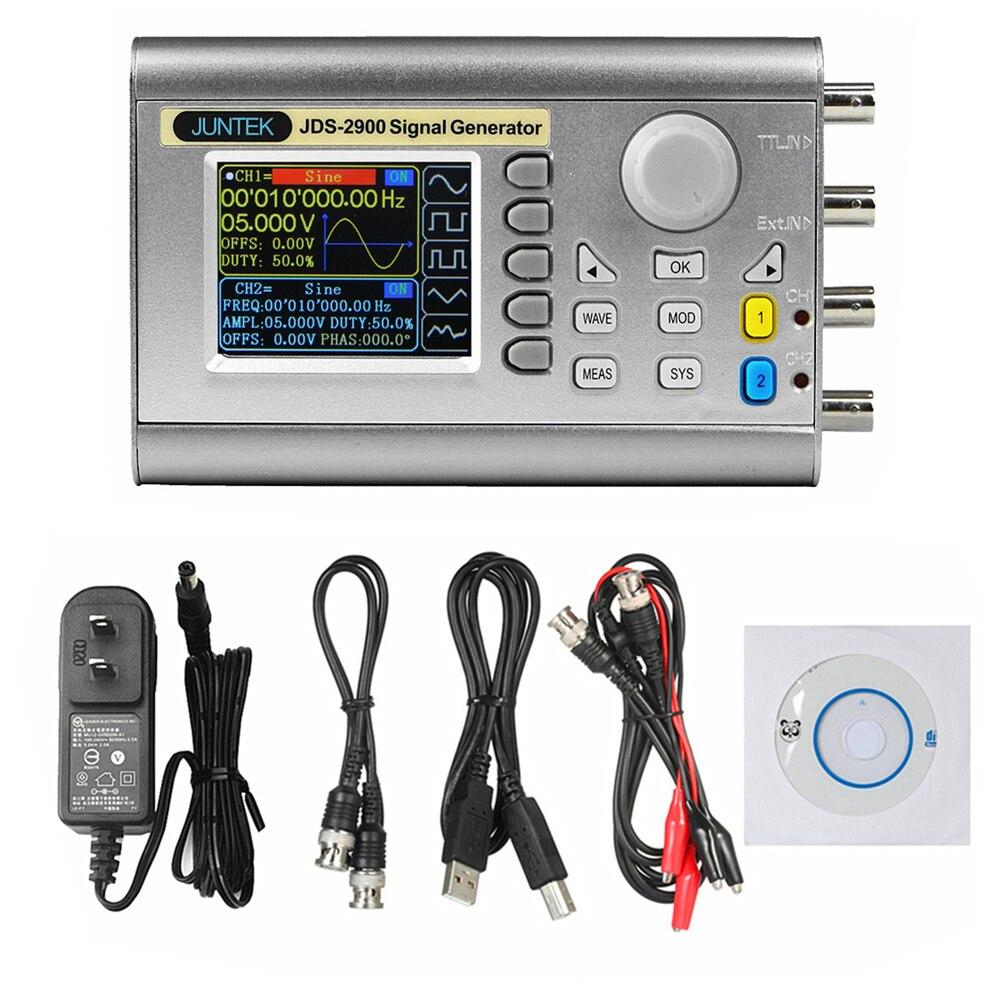 Fonte de sinal do duplo-canal 15 mhz da frequência do seno do controle digital do contador do gerador do sinal de jds2900 dds 40% de desconto