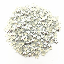 1000Pcs Silver Tone Cabochon Cameo Decoration Pentagram Star Shape Aluminum Plastic Nail Art Fashion Jewelry DIY Findings 5mm