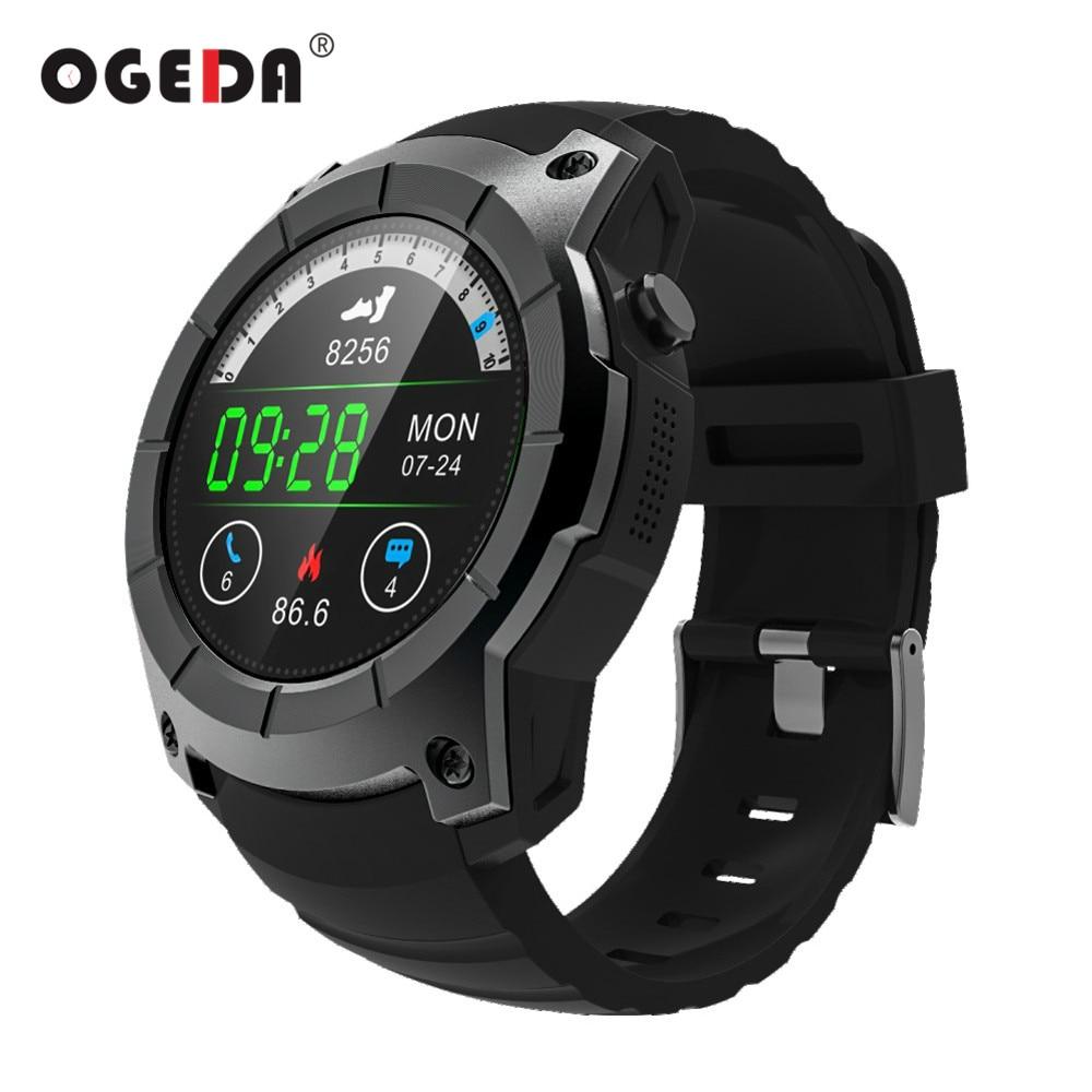 OGEDA Men GPS Smart Watch 2018 Sport Heart Rate Barometer Monitor Smartwatch Multi-sport Model Smart Watch for Android IOS S958