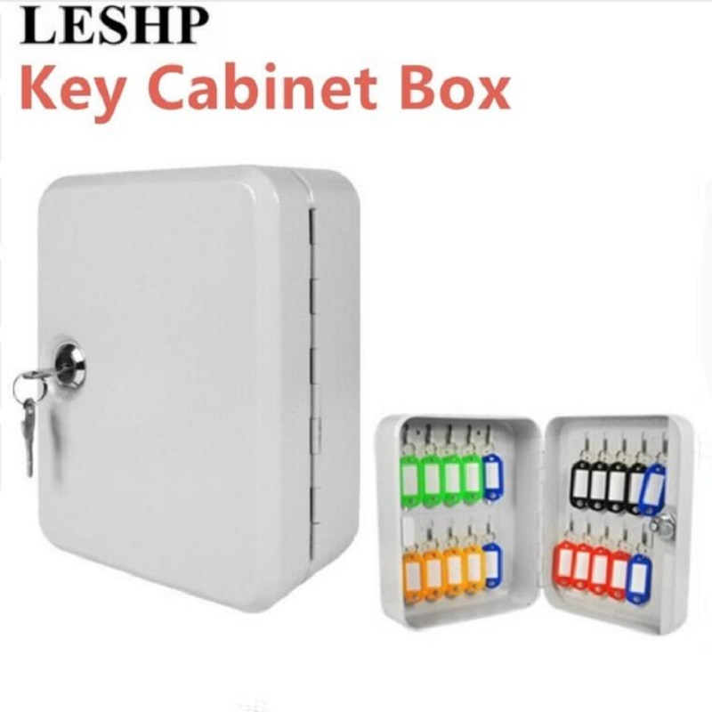 LESHP New Cost-effective Best Price Lockable Security Metal Key Cabinet Safe Storage Box with 20 Tags Fobs Wall MountedLESHP New Cost-effective Best Price Lockable Security Metal Key Cabinet Safe Storage Box with 20 Tags Fobs Wall Mounted