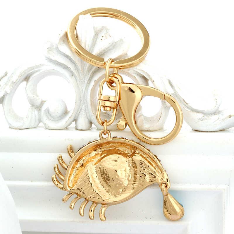 ZOSHI Lucky Eye Tear хрустальные Брелоки для ключей со стразами брелоки держатель кошелек сумка для автомобиля Рождественский подарок брелок ювелирный llaveros