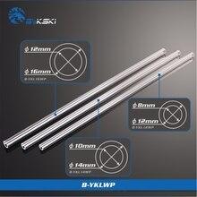 BYKSKI PMMA / PETG Hard Tube ( OD12mm / OD14mm / OD16mm  ) + 2mm Thickness + 50cm Length Transparent Rigid Pipe 2pcs/Lots