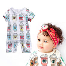 Fashion Toddler Newborn Kids Baby Boy Girl Infant Romper Cartoon Printed Jumpsuit Clothes Outfit Set