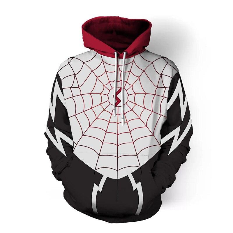 2018 Autumn Winter 3d print Gossip spider web Men Pullover hoodies Costume Fashion Hoodies Streetwear Casual Cospaly Sweatshirt