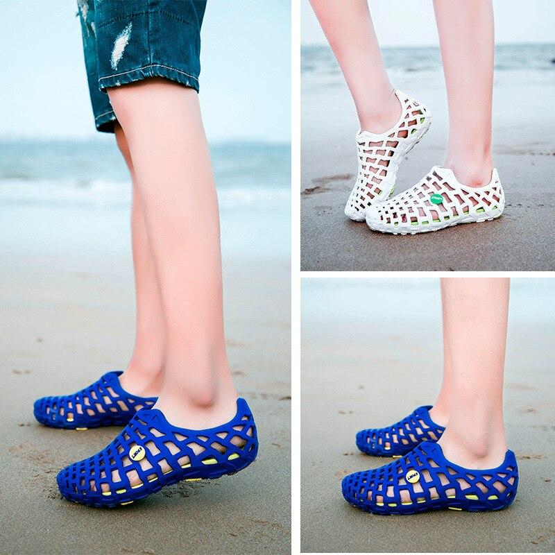 flops verde Casual Zapatos 2018 Para Amantes Verano Flip Mujer Agujero Recortes Negro Sandalias Zuecos Red On Femenino Slip Zapatillas azul rosy marfil P88wq6U
