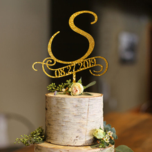 S cake toppers for wedding, Personalized Wedding Cake , rustic monogram topper, initial topper