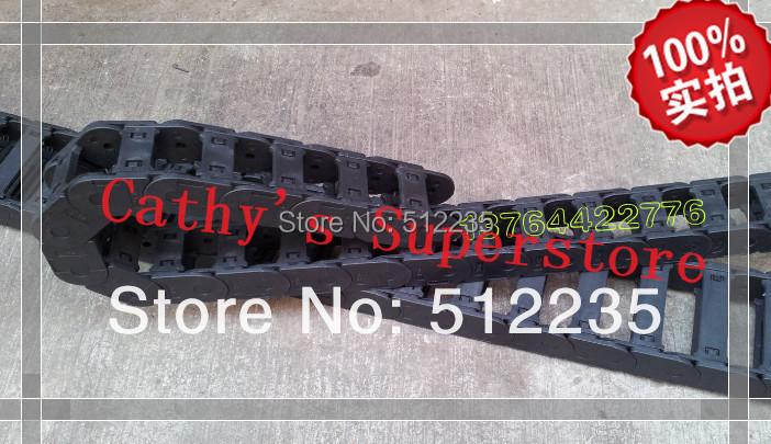 Free Shipping 15x50mm Flexible Can Open Carrier Cable Drag Chain 15 x 50mm with end connectors for CNC Machines free shipping 2 pairs of trafimet style cable joint 35 50 cable connectors socket and plug for 315a welding machines