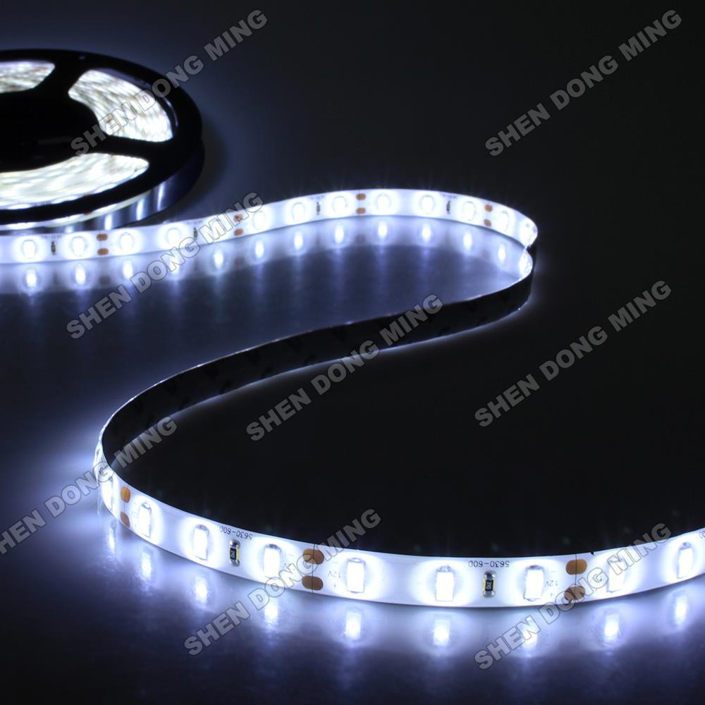 15m Cold White/warm White Waterproof Led Strip 5630 SMD Water Proof IP65 Led Ribbon  DC12V 60Leds/m 14.4w/m Flexible Led Light