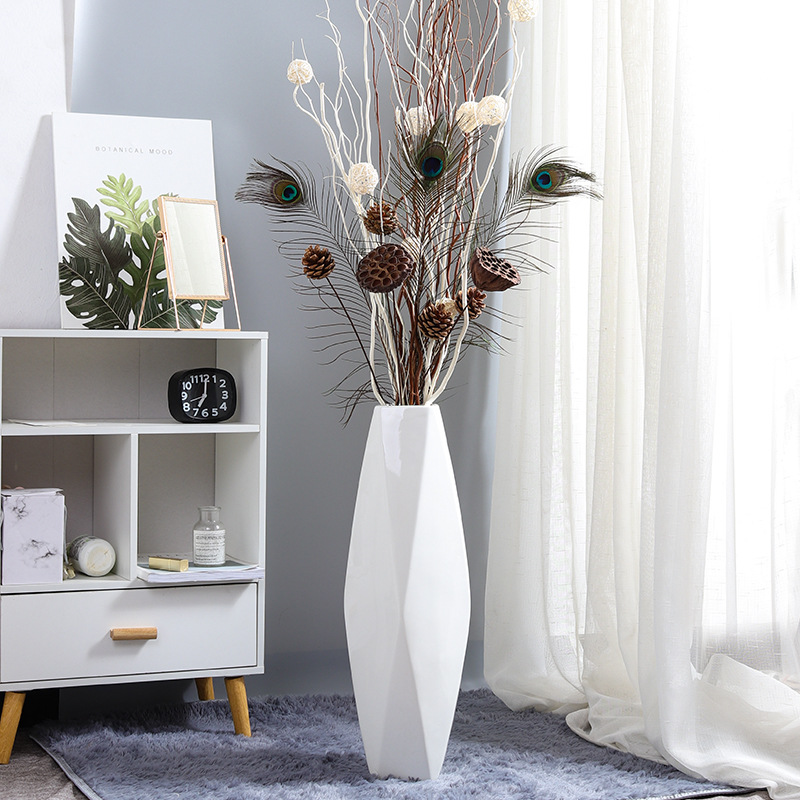 Floor Vases For Living Room.Us 76 14 40 Off Ceramic Floor Vase Modern Living Room Decoration Large Dried Flower Vase Nordic Jarrones Decorativos Moderno Vases For Flowers In