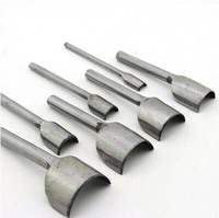 9 in 1 Puchout tools for leather craft making DIY Leather Working half circle 10/15/20/25/30/35/40/45/50mm