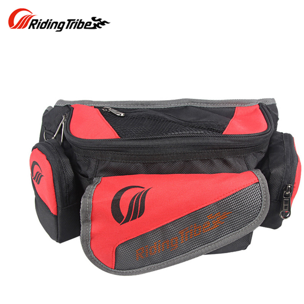 Riding Tribe Back Red Bicycle Bike Cycling Saddle Outdoor Pouch Motorcycle bags 02058 Fanny Pack Waist Belt bolsa motocicleta