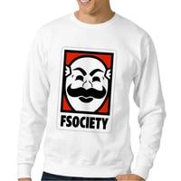 New Arrivals Retro Sweatshirt Men Fsociety Mr Robot Print Sweatshirts Casual Mens Clothing Hipster Tracksuit Funny
