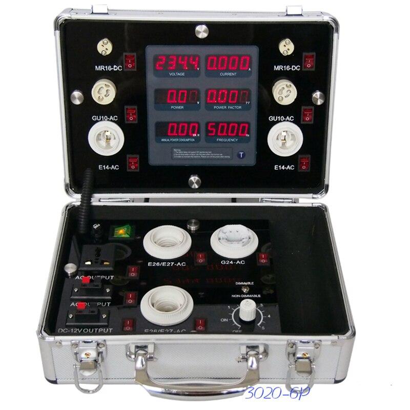 85 264 V Портативный светодиодный энергосберегающие лампы Дисплей случае светодиодный освещения демо устройство светодиодный цифровой Диспл