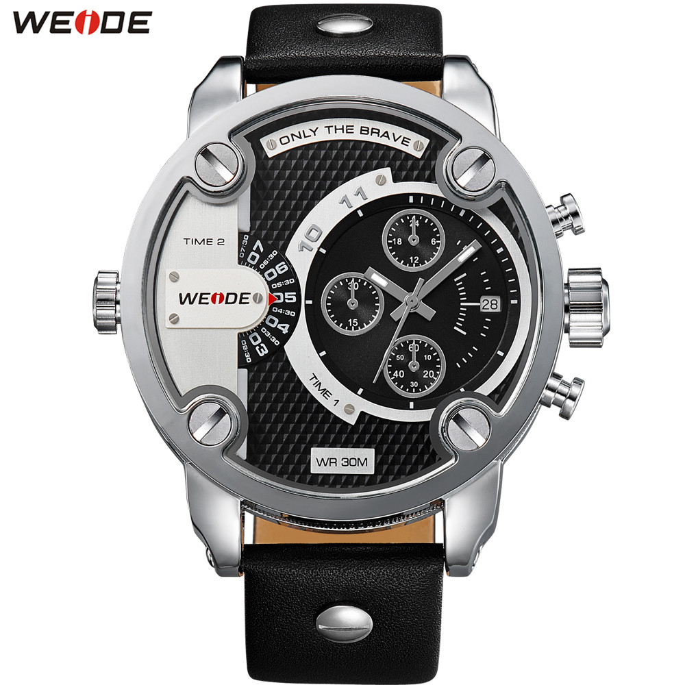 Original Fashion Brand WEIDE Sport Watch Men Quartz Dual Time Zone Man Watches Waterproof Army Wristwatch Male Hombre Relogios weide watch men sport waterproof relogios masculinos de luxo original diving watch unique multiple time zone wrist watch men