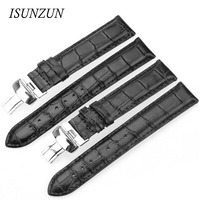 ISUNZUN Watch Band For Tissot T063610A T063639A Genuine Leather Watch Straps T063 High Quality For Men And Women Nato Strap