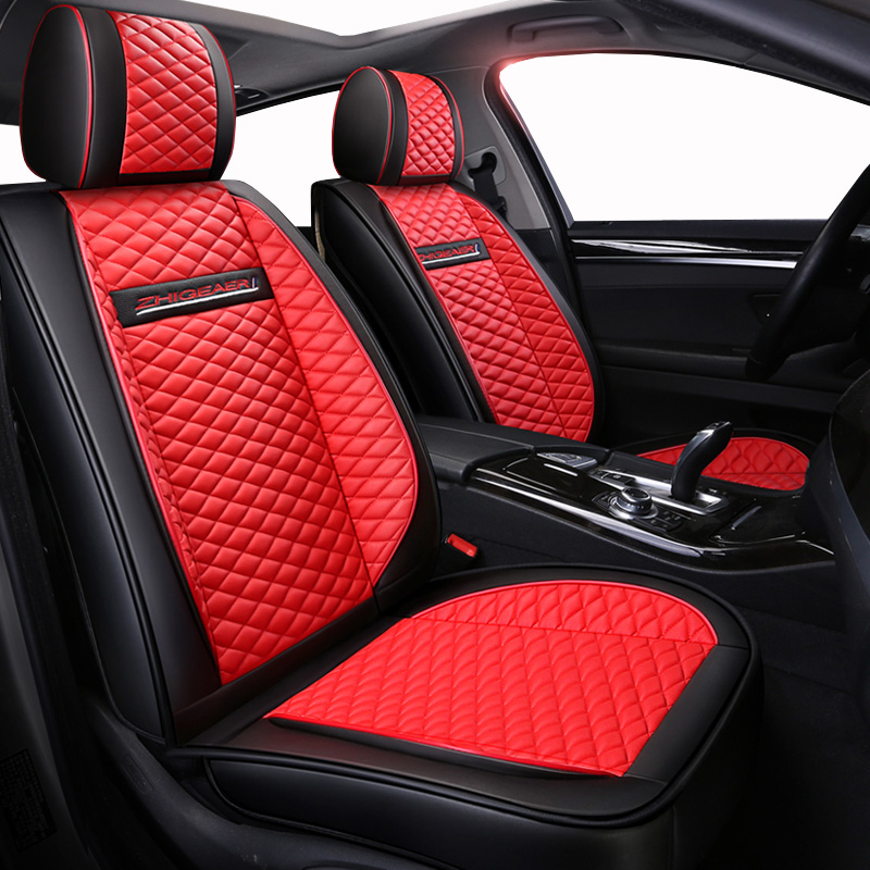 High quality PU Leather car seat covers fit Peugeot 107 206 206CC 207 301 307 307CC 308 408 508 3008 car-styling Auto Accessorie car believe custom car trunk mat for peugeot 5008 508 206 4008 306 307 308 207 cargo liner interior accessories car styling