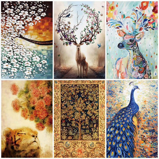 1000 Pieces Colorful Deer Jigsaw Puzzle For Adult Decompression 1000 Pieces Jigsaw Creativity Diy Puzzles Imagine Toys