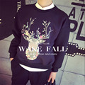 2015  Round Neck Sweatshirts Couple Animal Print Pattern Hedging Round Neck Sweatshirts Couple Of Popular Youth Printed Clothing