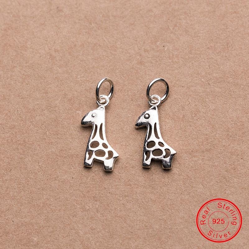 Купить uqbing винтажные мини шармы в виде жирафа серебряного цвета