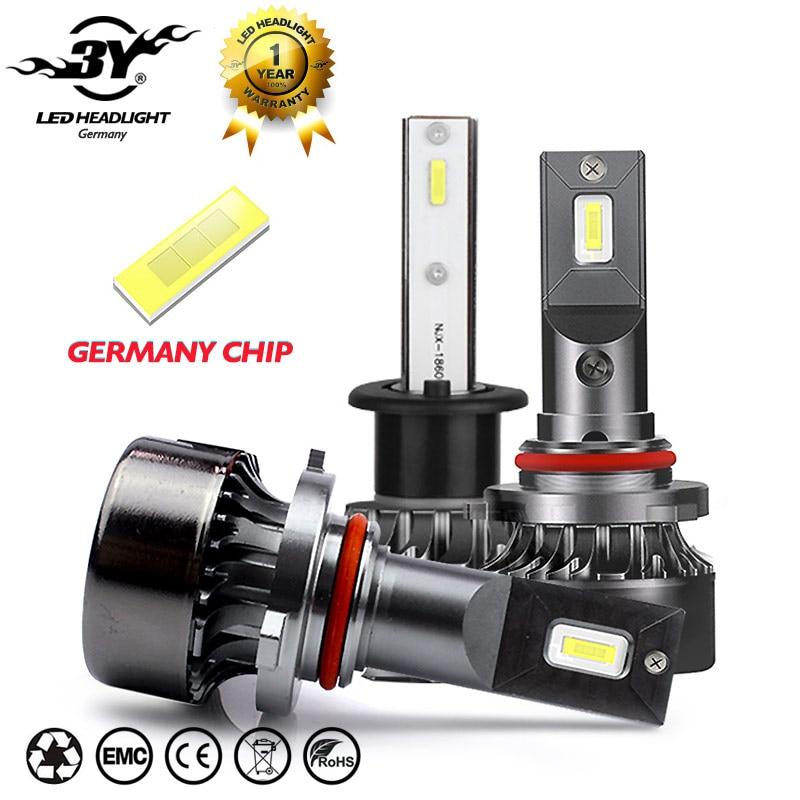 2Pcs Mini H1 Led H7 with Germany Chips 12000LM 72W set lampada h4 HB3 9005 HB4