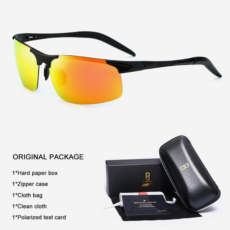 Bruno Dunn Driving polarized Men sunglasses 2020 sports High Quality UV400 Aluminum sun glasses for male oculos de sol masculino 13