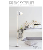 solid wood floor lamp simple modern Japanese living room study bedroom bedroom vertical fishing lights MZ4