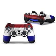 2 pcs Novo para PS4 Controlador Designer Camuflagem Adesivo Da Pele para o Sony PlayStation 4 DualShock Wireless Controller logotipo verde