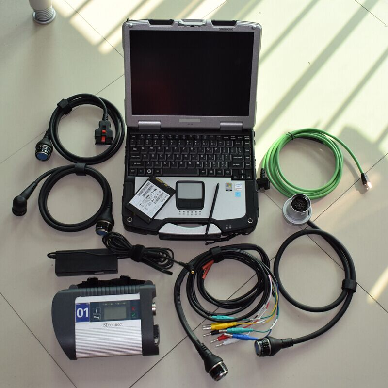 Super Mb Star C4 With Latest Software 2020.03 Ssd 360gb With CF-30 Military Laptop 4g Mb Sd Connect Diagnostic Tool