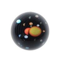 Feng Shui 3D Sistema Solar Patrón Decorativo 3 inch Media Esfera De Cristal Pisapapeles De Cristal De Recogida de Bolas De Mesa Decoración Del Hogar